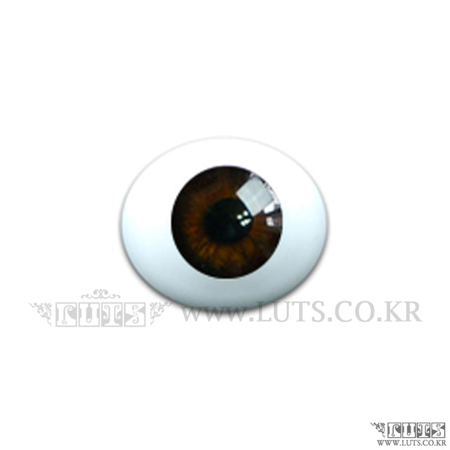 8MM Real Type Glass Eyes Brown