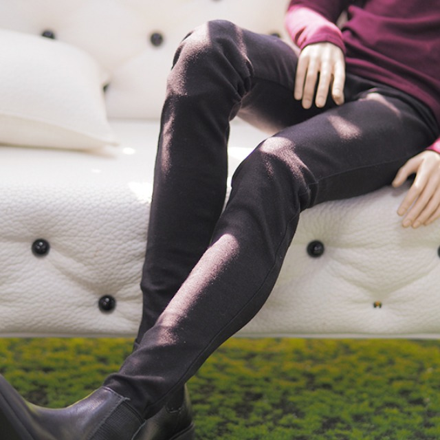 [ID75]BOY Color skinny pants(Black)