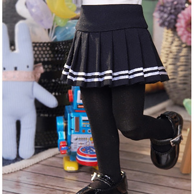 [YoSD] Two-line pleated skirt(Navy)