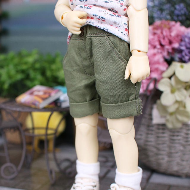 [YoSD] Roll-up shorts(Khaki)