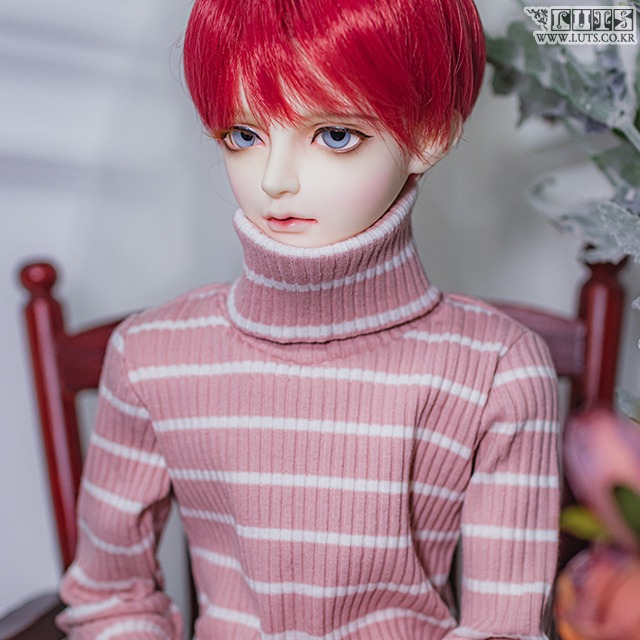 SDF65 Pink Stripe Turtleneck