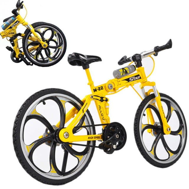 1/10 Scale Alloy Mini MTB Folding Bike Model