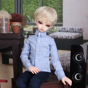 KDF BASIC SLIM SHIRTS For Kid Delf (Sky blue)