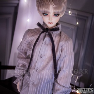 SDF65 Velvet Ribbon Blouse (Gray)