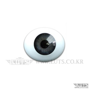 12MM Real Type Glass Eyes Dark Gray