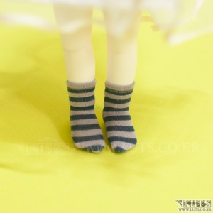 HDF Stripe Short Socks (Blue/Ivory)