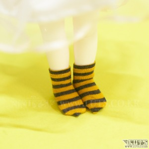 HDF Stripe Short Socks (Yellow/Black)