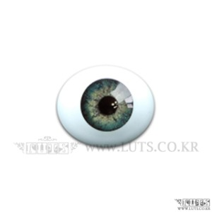 12MM Real Type Glass Eyes Green Gray