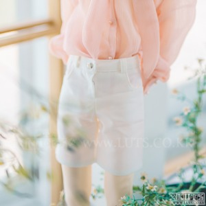 SDF65 Slacks Shorts (White)