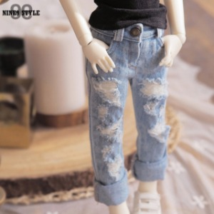 [MSD]Denim damages pants(Ice jean)