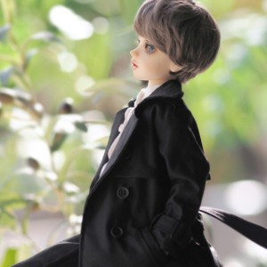 [MSD]Long trench coat(Black)