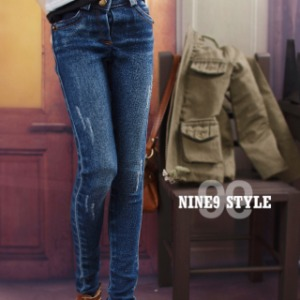 [SDG]GIRL Vintage washing skinny pants(Blue)