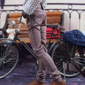 [MSDB] Spandex cotton pants(Cocoa brown)
