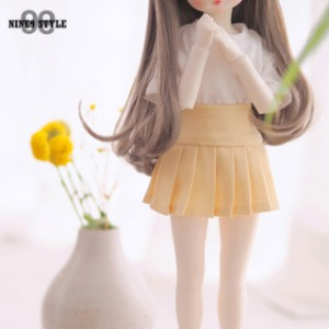 [JEUJEU30] Basic pleated skirt(Yellow)