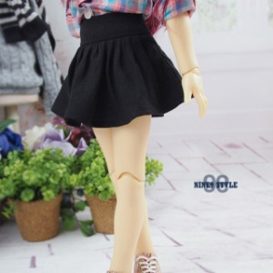[MSD]Flare mini skirt(Black)