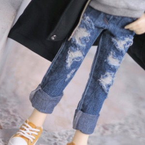 [MSD]Denim damages pants(Blue jean)