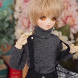 [MSD]BOY Simple turtleneck(Gray)