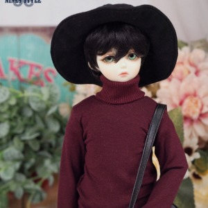 [MSD]BOY Simple turtleneck(Wine)