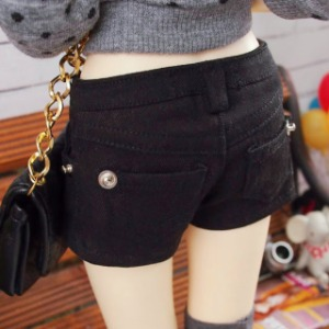 [SDG]Color hot pants(Black)