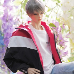 [ID75]Wind breaker(Red black)