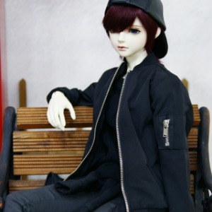 [SDB]Flight blouson jacket(Black)