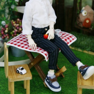 [MSD]Suspenders slacks pants(Stripe)