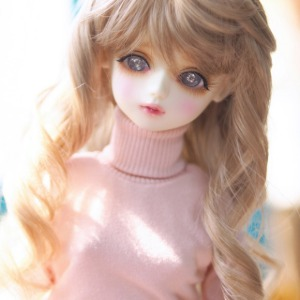 [MSD]GIRL Simple turtleneck(Pink)