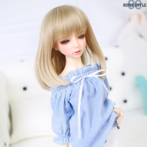 [MSD]Smocking shoulder open blouse(Blue)