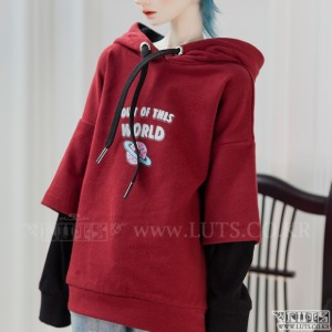 SDF65 World Hoddie (Red)