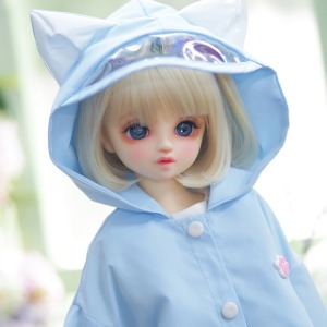 [MSD] M) Kitty Raincoat [Sky blue]