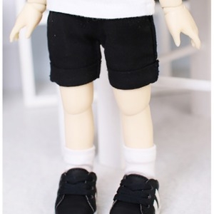 [YoSD]Roll-up shorts(Black)