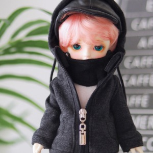[YoSD] Mask hood zip-up(Gray)