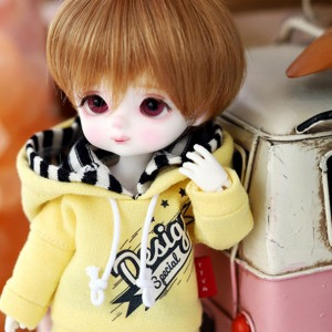 [Child16] Design Special Hooded T - Yellow