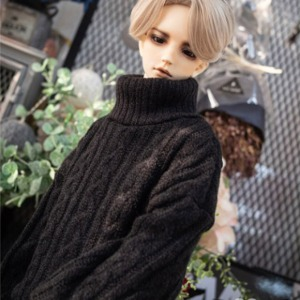 [Pre-Order][SDB]Twisted turtle-neck knit(Black)