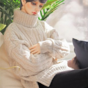 [Pre-Order][GSDF]Twisted turtle-neck knit(Otmeal)