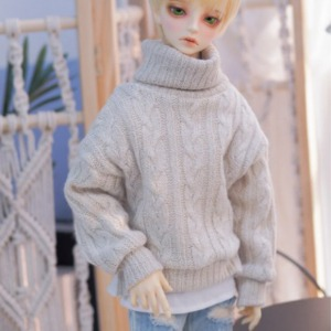 [Pre-Order][SDB]Twisted turtle-neck knit(Otmeal)