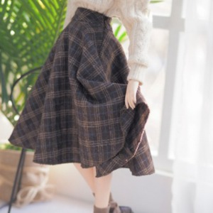 [Pre-Order] [SDG]Check long skirt(Brown)