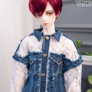 SDF65 lace denim jacket
