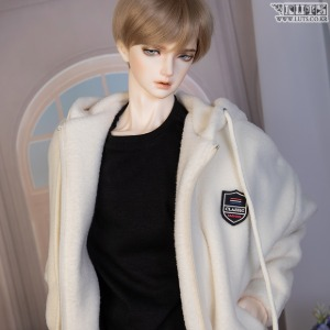 [Pre-Order] GSDF Fluffy fleece zip-up(Ivory)