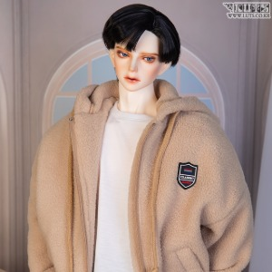 [Pre-Order] GSDF Fluffy fleece zip-up(Beige)