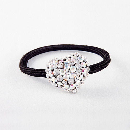 Heart Rubber Band (White)