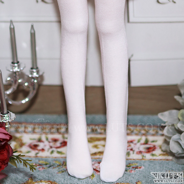 KDF Basic Over-knee Socks (White)