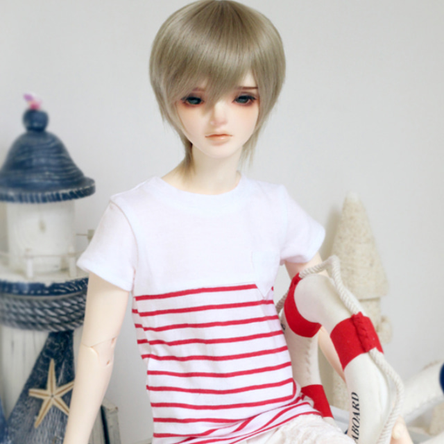 [SDB]Pocket striped T-shirts(Red)
