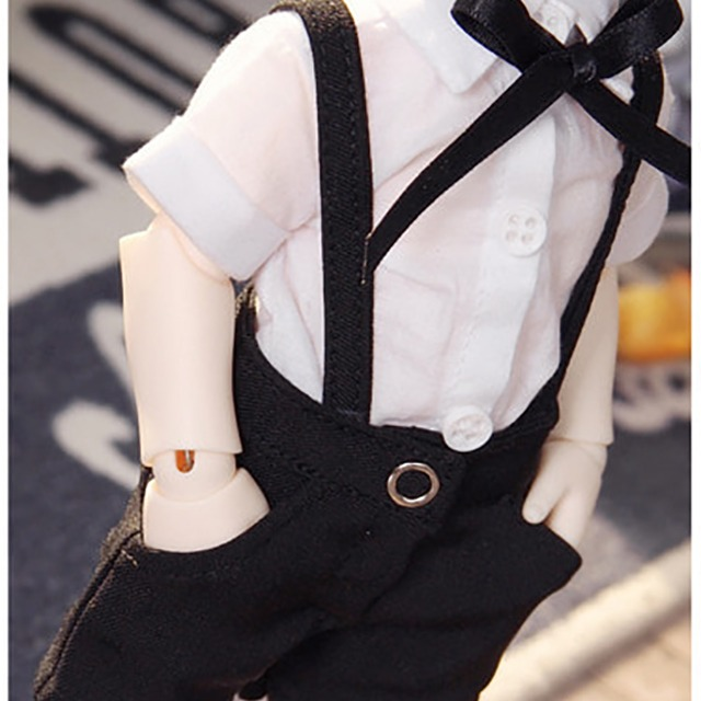 [YoSD] Suspender half pants(Black)