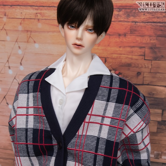 GSDF Check cardigan(Red)