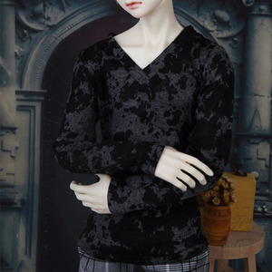 SDF65 Loose Fit V-Neck Shirt (Black)