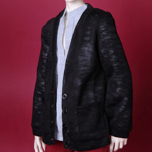 SDF65 Basic Long Cardigan (Black)