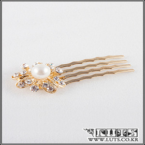 Pearl Flower COMB Hair PIN(Gold)