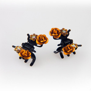 BUTTERFLY ROSE CLAWCLIP PIN SET(ORANGE)
