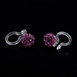 6mm Ear Cuff Ball (Violet)